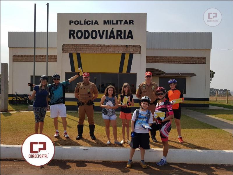 Policiais Rodoviários do Posto de Marechal Cândido Rondon realizam ações em alusão a semana do trânsito na PR-491