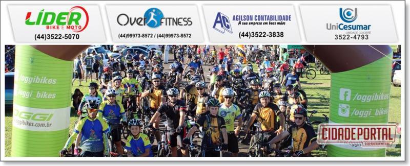 Vou de Bike Etapa Goioerê foi sucesso, mais de 400 ciclistas participaram do evento