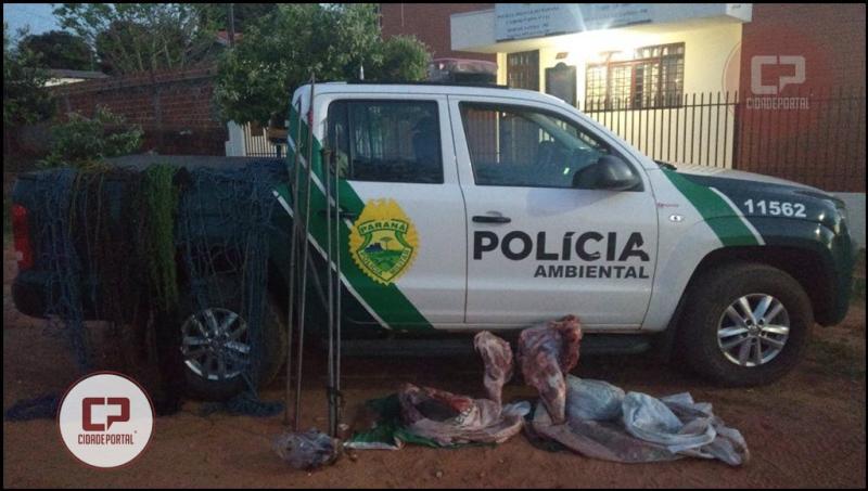 Polícia Ambiental de Umuarama apreende mais de 50 quilos de carne de animais silvestres em Tapira