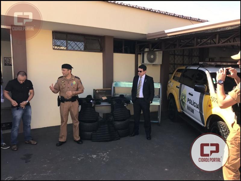 Polícia Militar de Ubiratã recebe equipamentos através de repasses de verbas do Poder Judiciário nesta segunda-feira, 04