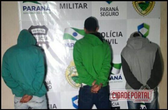 Equipe da ROTAM prende três maiores e apreende três menores de idade com drogas na praça do Lar Paraná.