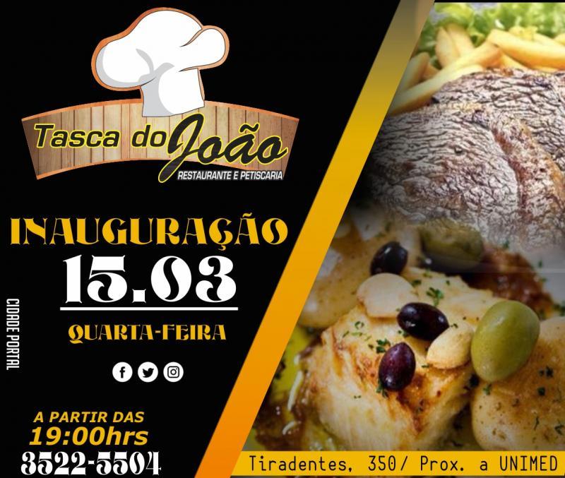Restaurante e Petiscaria Tasca do João será Inaugurado nesta quarta-feira, 15
