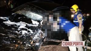 Acidente envolvendo 4 veículos deixa vítima fatal entre CM e Luiziana nesta segunda-feira, 12