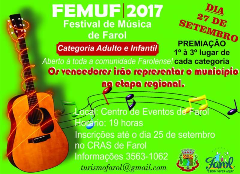 Festival de Música em Farol vai revelar talentos e valorizar artistas