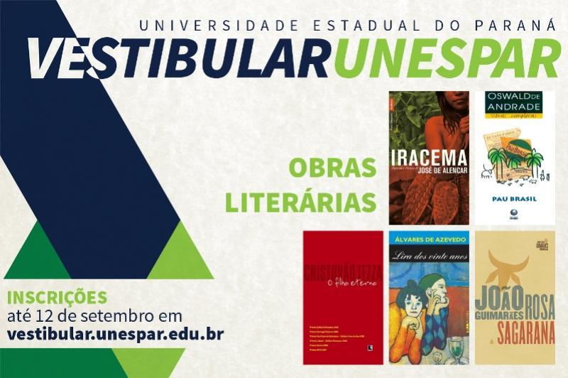 Vestibular Unespar: conheça a lista de obras literárias e inscreva-se
