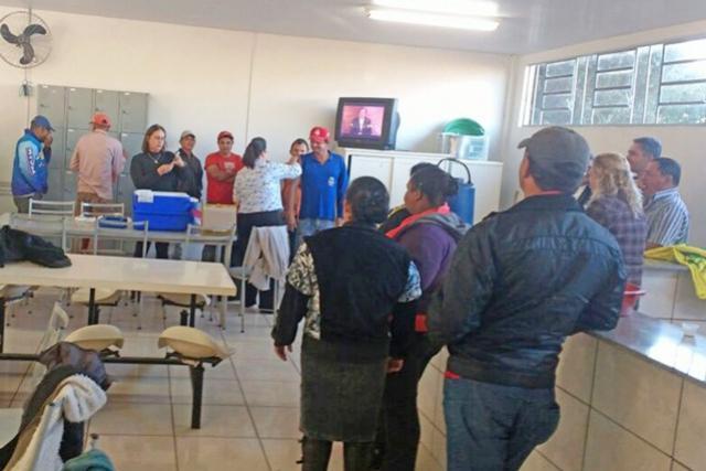 Servidores Municipais receberam vacina contra a Gripe em Campo Mourão