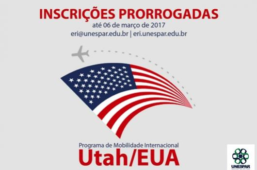 Prorrogadas as inscrições para o programa de mobilidade com Utah/EUA da Unespar