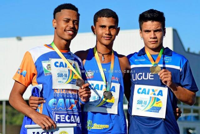 Cinco medalhas mourãoenses no Brasileiro Sub-18 em Bragança Paulista