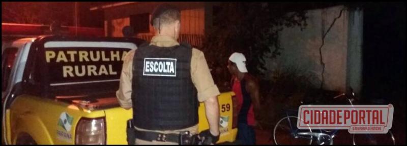 Policia Militar prende acusado de tráfico de drogas em Campo Mourão