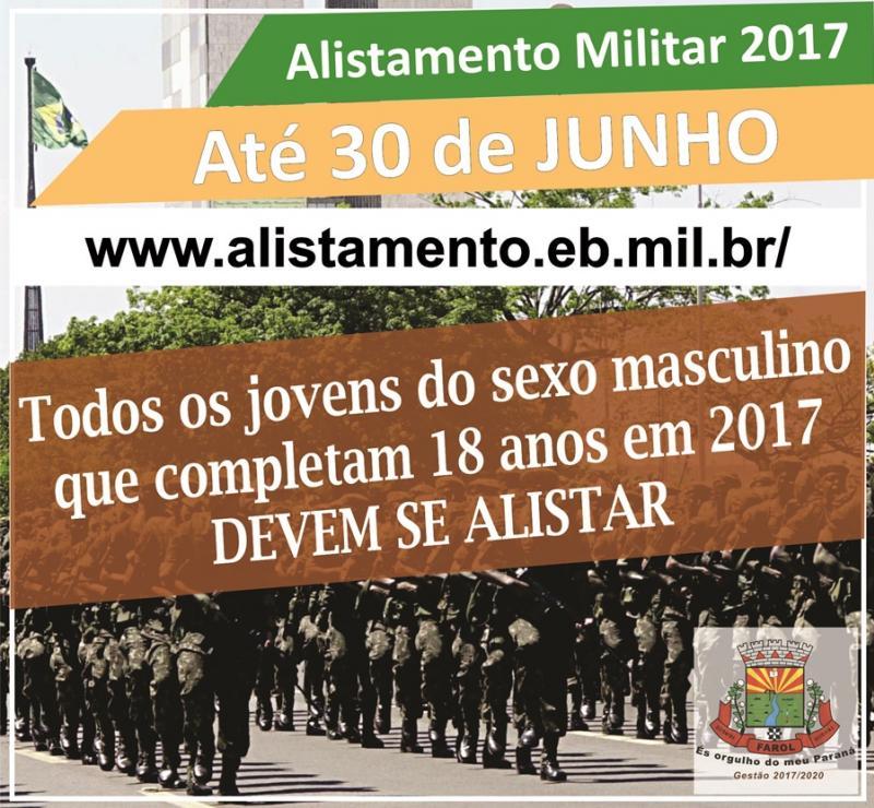 Atenção jovens residentes no município de Farol alistamento militar de 2017 vai até 30 de junho