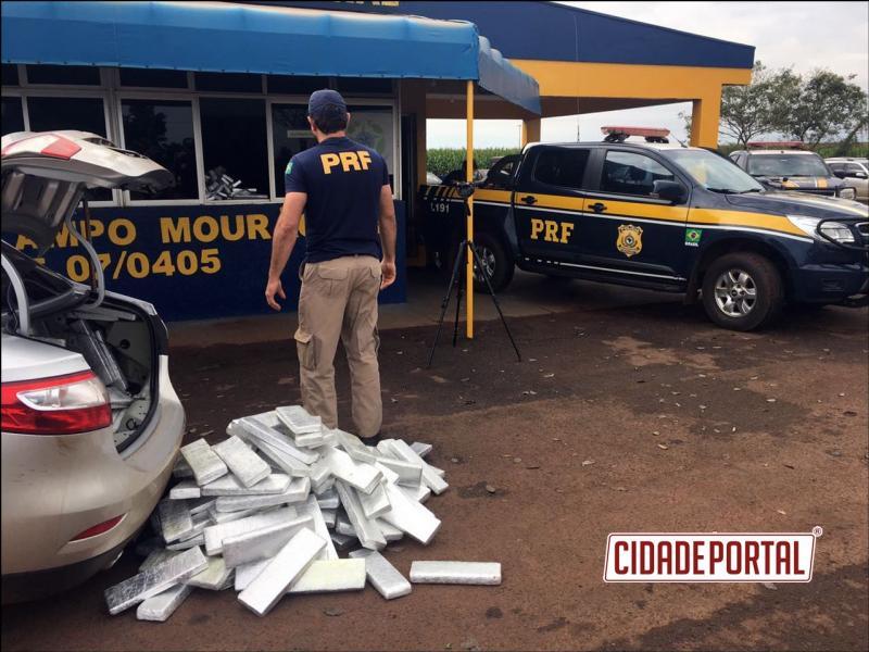 Polícia Rodoviária Federal de Campo Mourão apreende quase 500 KG de Maconha neste domingo, 28