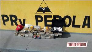 Policiais Rodoviários do BPRv de Pérola apreendem drogas e munições de uso restrito
