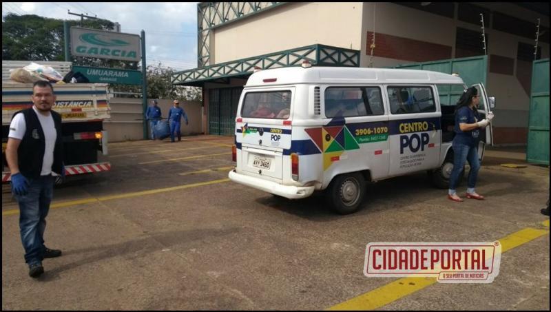 Equipe da Polícia Militar de Umuarama presta apoio para órgãos assistenciais do Município