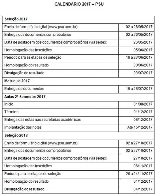 Confira o calendário 2017 para Mestrado e Sustentabilidade - UEM e IFPR