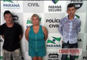 Policia Militar  de Umuarama prende 03 acusados de homicídio em Cidade Gaúcha na madrugada de sábado, 11