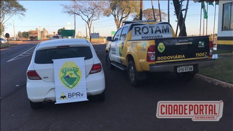 Equipe da Rotam/3ª CIA- BPRv recupera veículo e prende duas pessoas em Assis Chateaubriand