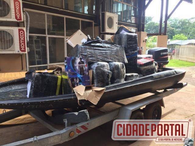 Policiais Federais apreendem mercadorias que valor chega a meio milhão de reais na cidade de Guaíra