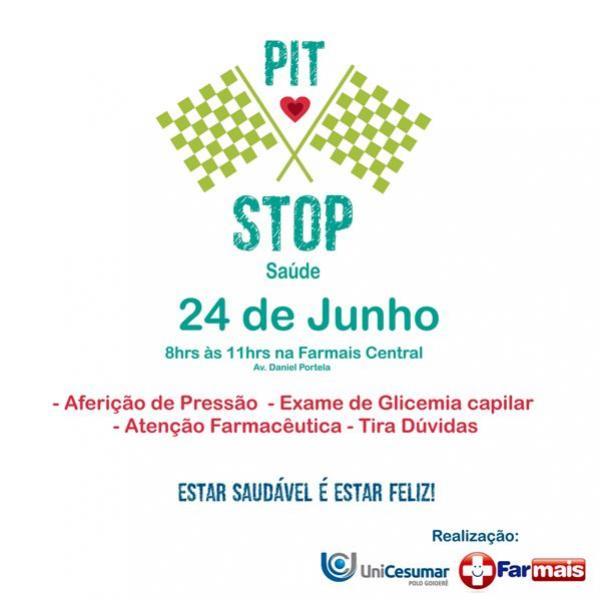 EAD Unicesumar e Farmais Central promovem Pit Stop da Saúde nesse sábado.