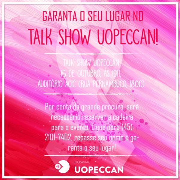 Talk Show vai levantar discussão sobre o câncer de mama