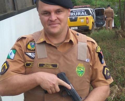 Soldado da Polícia Militar com apenas 37 anos atingindo por uma árvore em Bom Sucesso do Sul, sudoeste do Estado