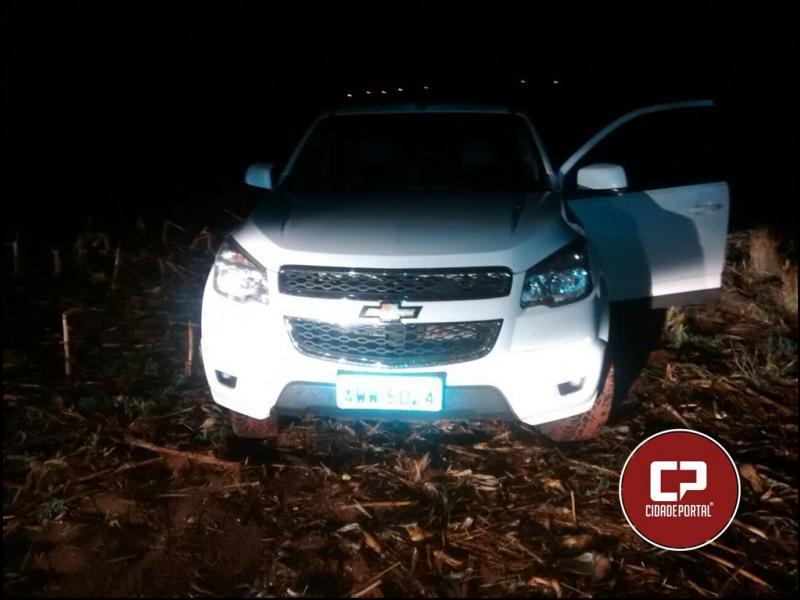 Polícia Militar de Goioerê recupera caminhonete roubada neste domingo e prende um suspeito de dar apoio ao roubo