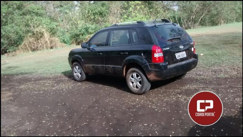 Veículo tomado de assalto do ex-prefeito Fuad Kffuri foi encontrado abandonado no Parque do Povo na manhã de segunda-feira, 14