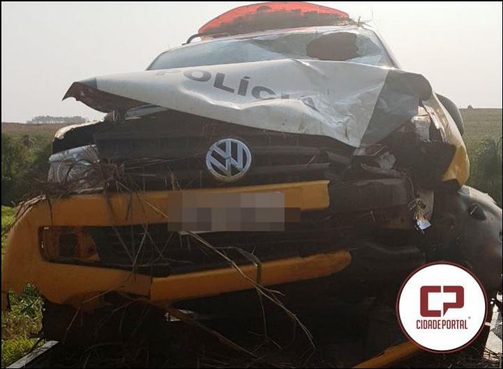 Policiais Militares de Goioerê sofrem acidente com viatura da Rotam nesta quarta-feira, 13