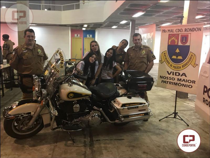 Posto Policial Rodoviário de Marechal Cândido Rondon participa de Feira de Profissões do Município