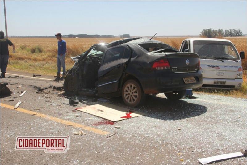 Acidente com vítima fatal de Campo Mourão na Rodovia MT-251, vítima de 41 anos faleceu no momento da colisão