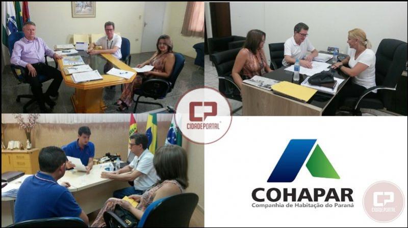 Cohapar e prefeituras de Janiópolis, Moreira Sales e Juranda discutem projetos habitacionais