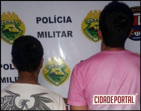 Policias Militares do destacamento de Boa Esperança prendem duas pessoas com crack