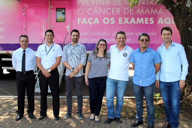 Secretaria de Saúde de Goioerê recepciona carreta do Instituto do Câncer de Barretos