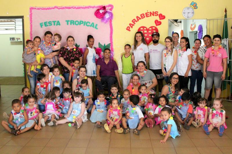 CMEI Rotary Guaíra finalizou com sucesso o projeto Semana Tropical
