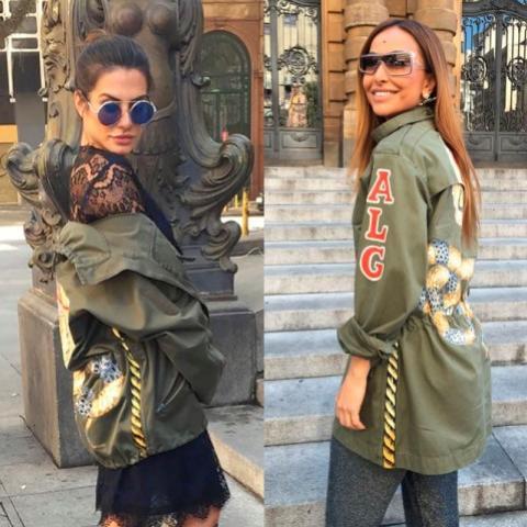 Coincidência fashion: Cleo Pires e Sabrina Sato escolhem jaquetas parecidas em desfile