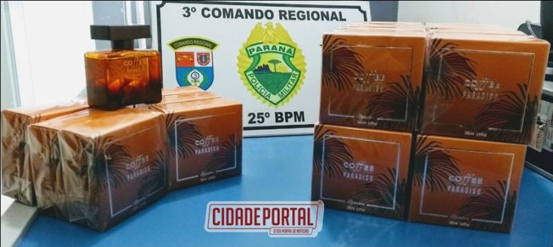 Polícia Militar de Umuarama recupera produtos de roubo que teria sido trocado por drogas
