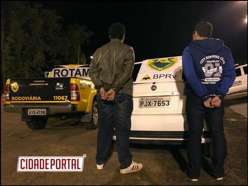 Equipe da ROTAM/3ª CIA/BPRv prendeu dois homicidas da Bahia que tentavam fugir para o paraguay