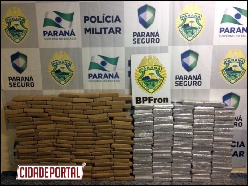 Polícia Militar através do BPFron desmancha depósito clandestino de drogas e contrabando em Guaíra-PR