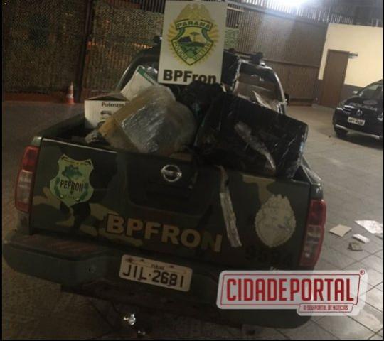 Herbicidas e mercadorias contrabandeadas são apreendidas pelo BPFRON