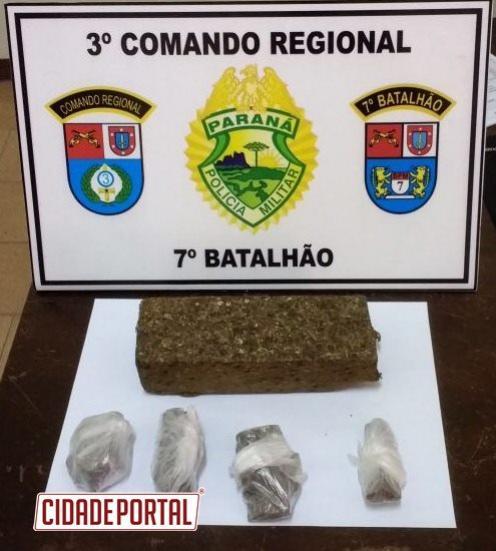 Armas e drogas são aprendidas por Policiais do 7° BPM durante final de semana