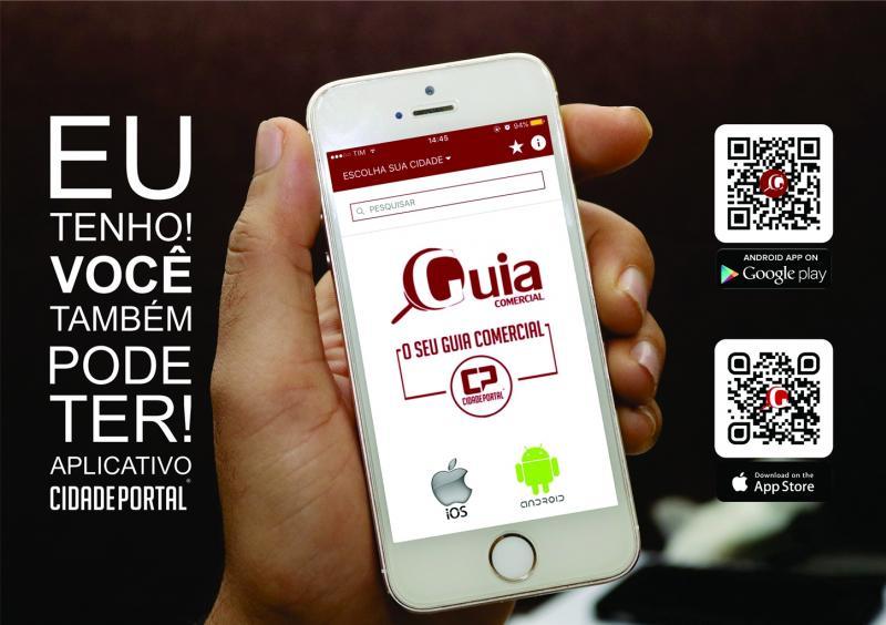 Instale o aplicativo Guia Comercial do Cidade Portal para Smartphone com IOS e Android