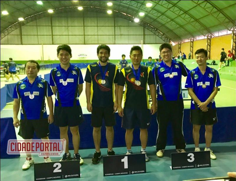 A equipe de Tênis de Mesa de Goioerê se destacou no campeonato intercolonial paranaense