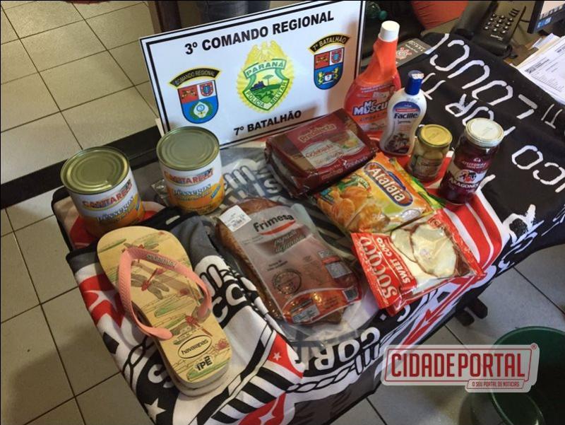 Polícia Militar do destacamento de Moreira Sales prendem duas pessoas por furto em Supermercado