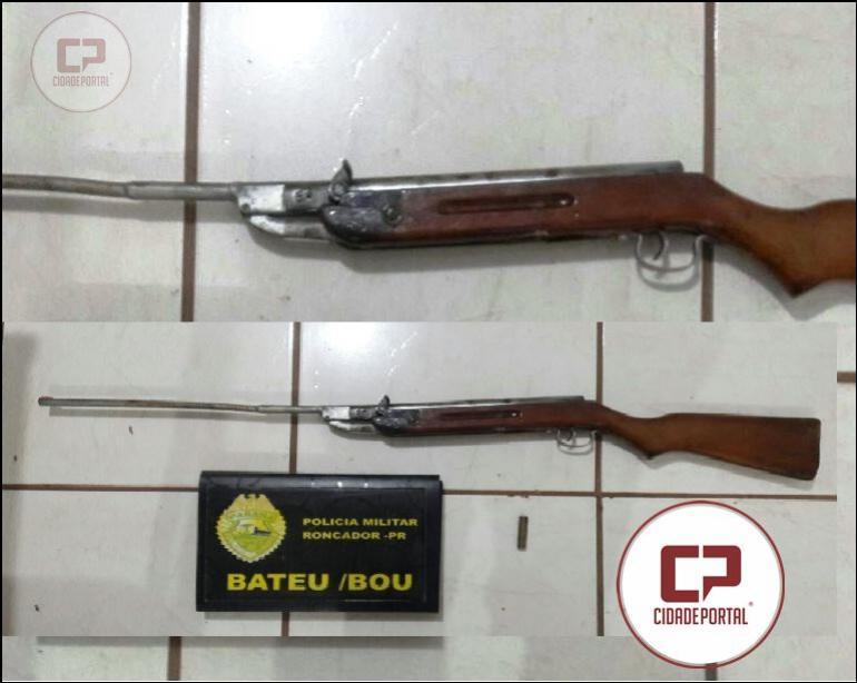 Uma pessoa foi presa pela Polícia Militar de Roncador por posse irregular de arma de fogo e ameaças