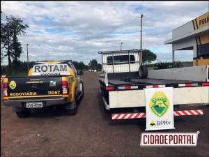 ROTAM da 3ª Cia/BPRv prende caminhão com 380 de maconha na PR-323 em Cafezal do Sul