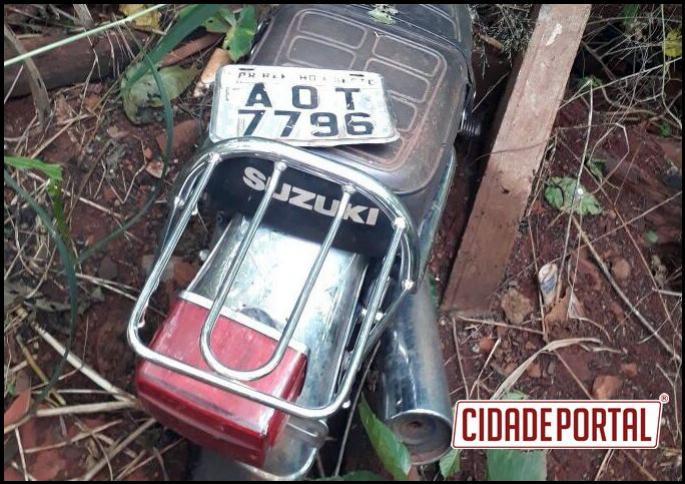 Polícia Militar do destacamento de Juranda recuperam motocicleta com queixa de furto em abril deste ano