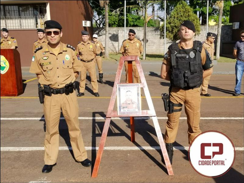 O Cabo Cleverson Wilian Radke é - Policial Militar destaque de Agosto do 11º BPM