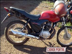 Policiais Militares do destacamento de Altamira do Paraná recuperam moto furtada em assentamento