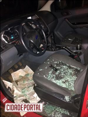 Policiais Militares e uma equipe médica de Nova Cantu foram acionadas para conter uma pessoa por ameaças