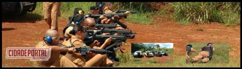 Após agricultores de Ubiratã doarem dois fuzis para a PM, a tropa recebeu treinamento em Campo Mourão e Assis Chateubriand
