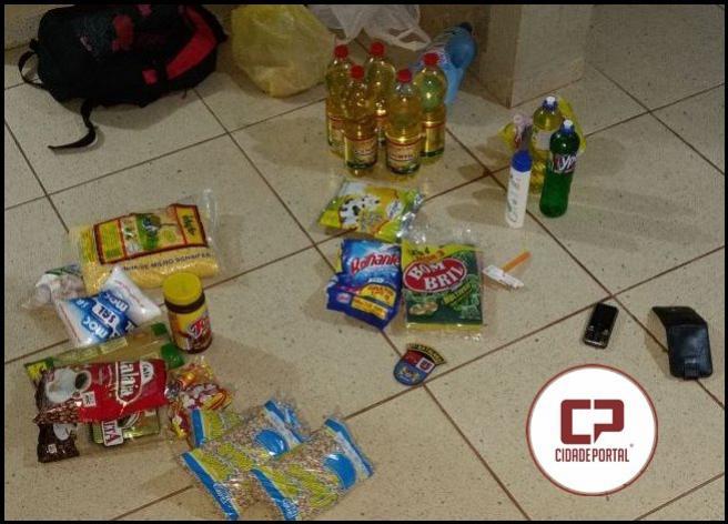 Policiais Militares de Roncador recuperam produtos de furto na cidade